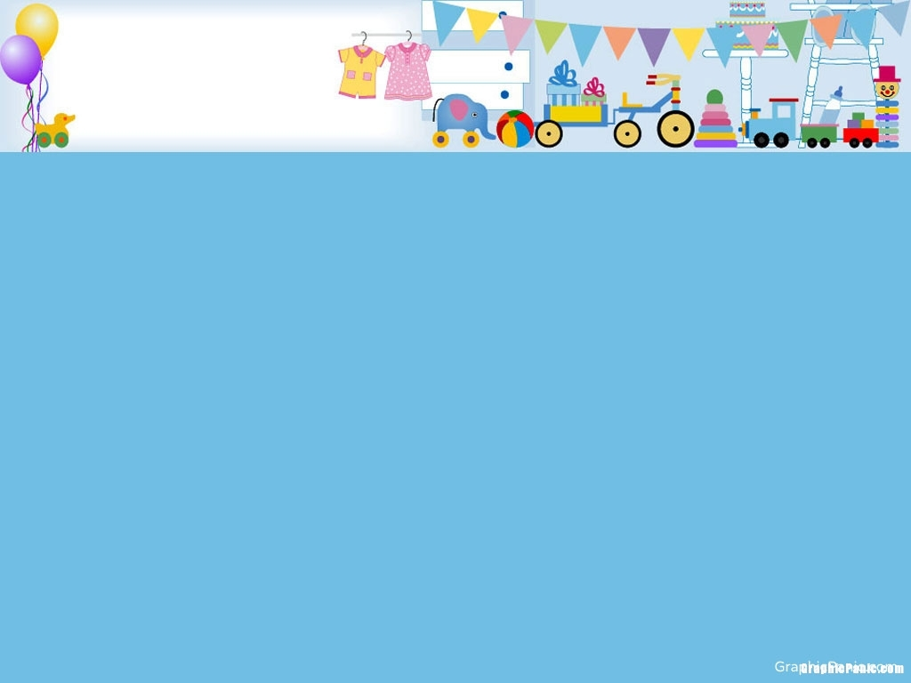 Blue Background, Child, Baby, Nursery Decoration, Template, Theme #702