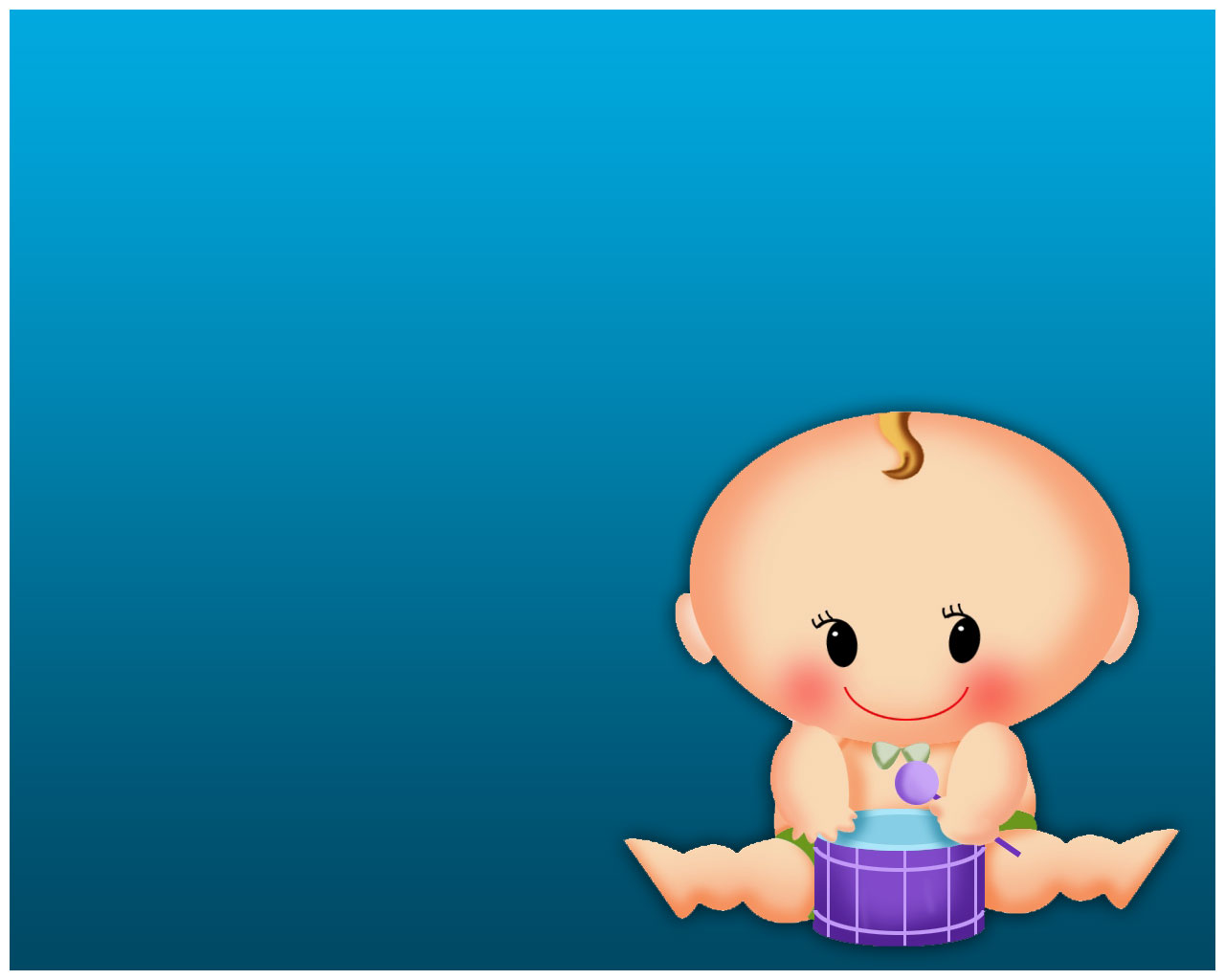 Small Baby Blue Background Templates #695