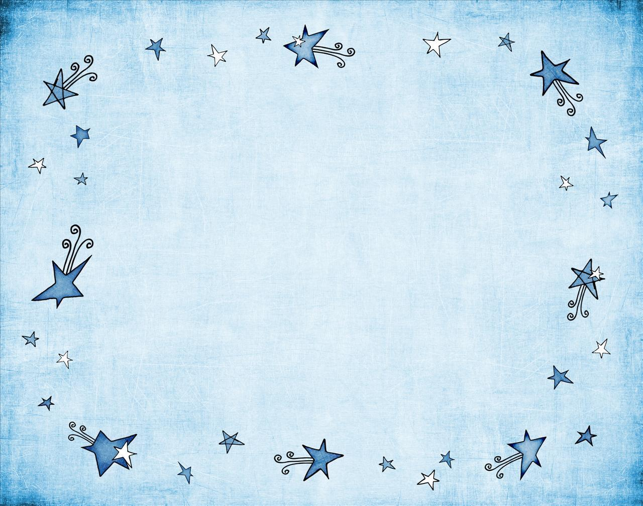 Star-Spangled Blue Frame Powerpoint Background Image #704