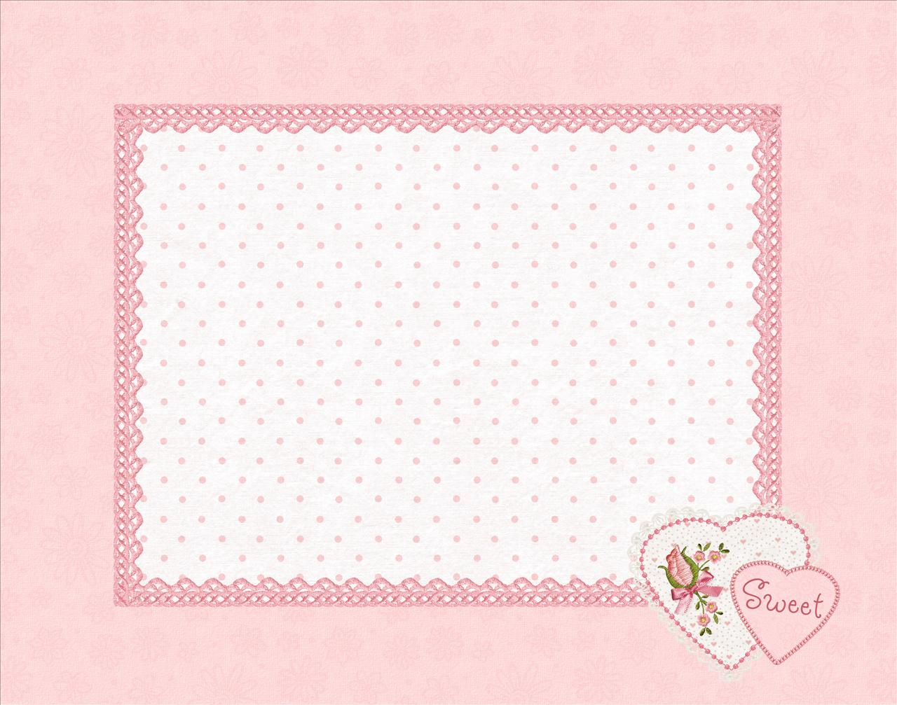 Sweet Baby Pink Background Frame #706
