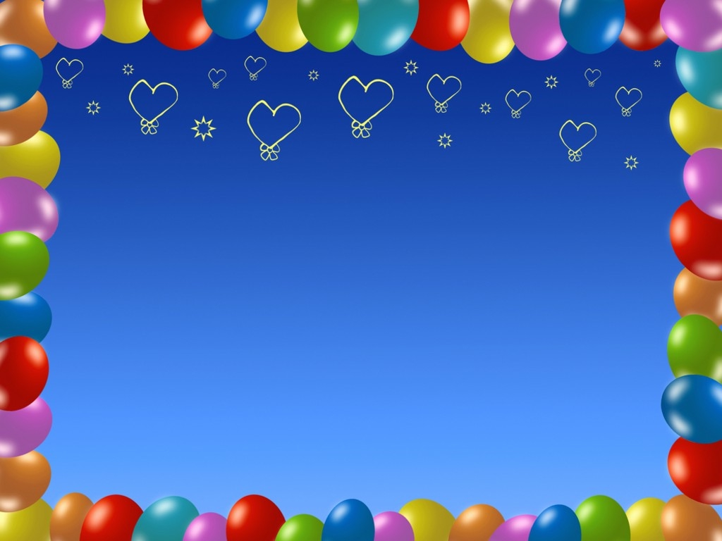 Balloon Decorations, Balloon Frame Picture PPT Background #728