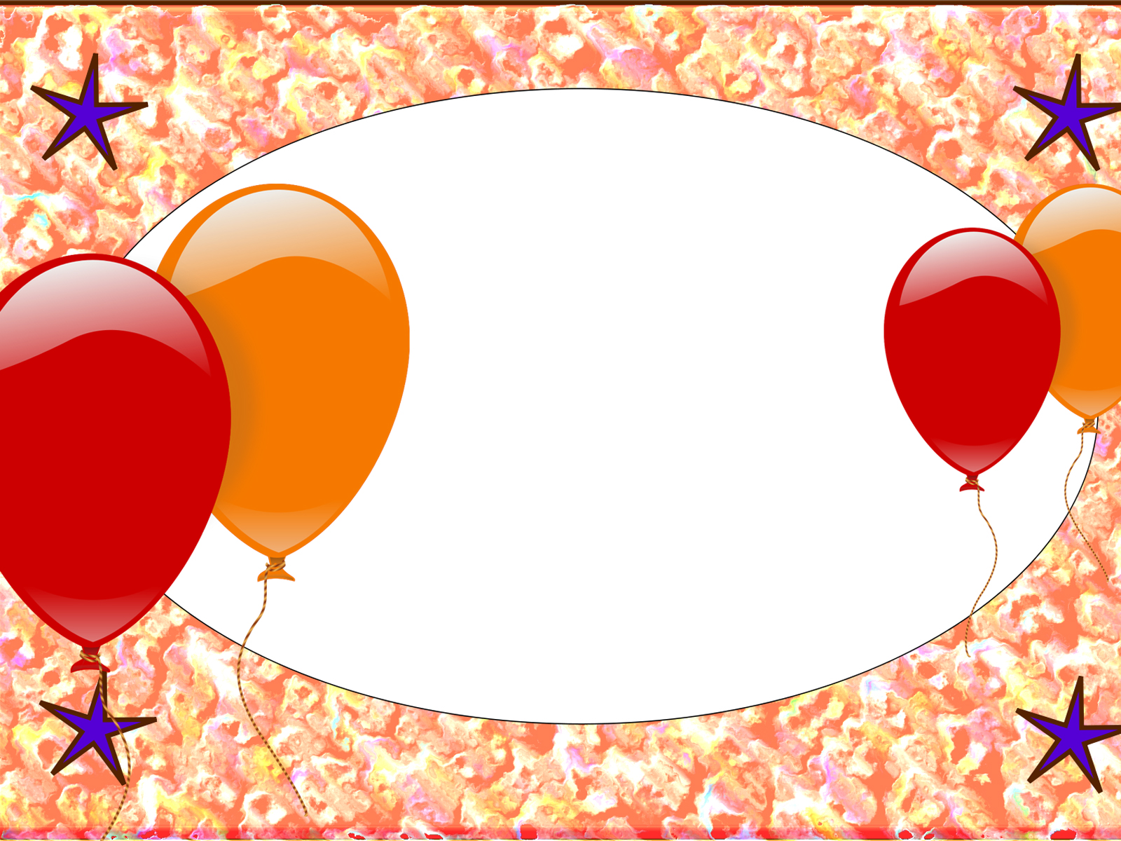 Birthday Balloon Border Templates Design Background Slides #730