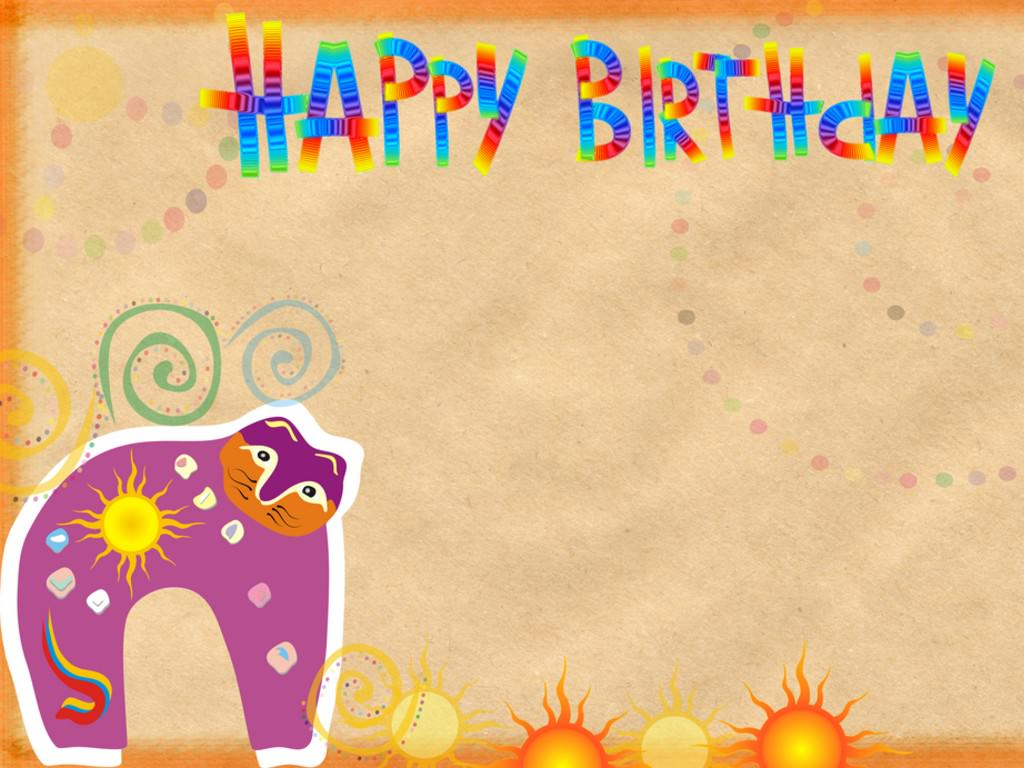 Birthday, Birthday Template For Kids, Cartoon Color Beige #713