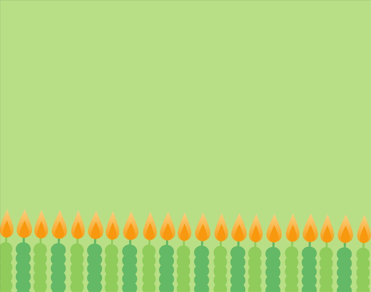 Green Birthday Background Image, Decorative Candles #734