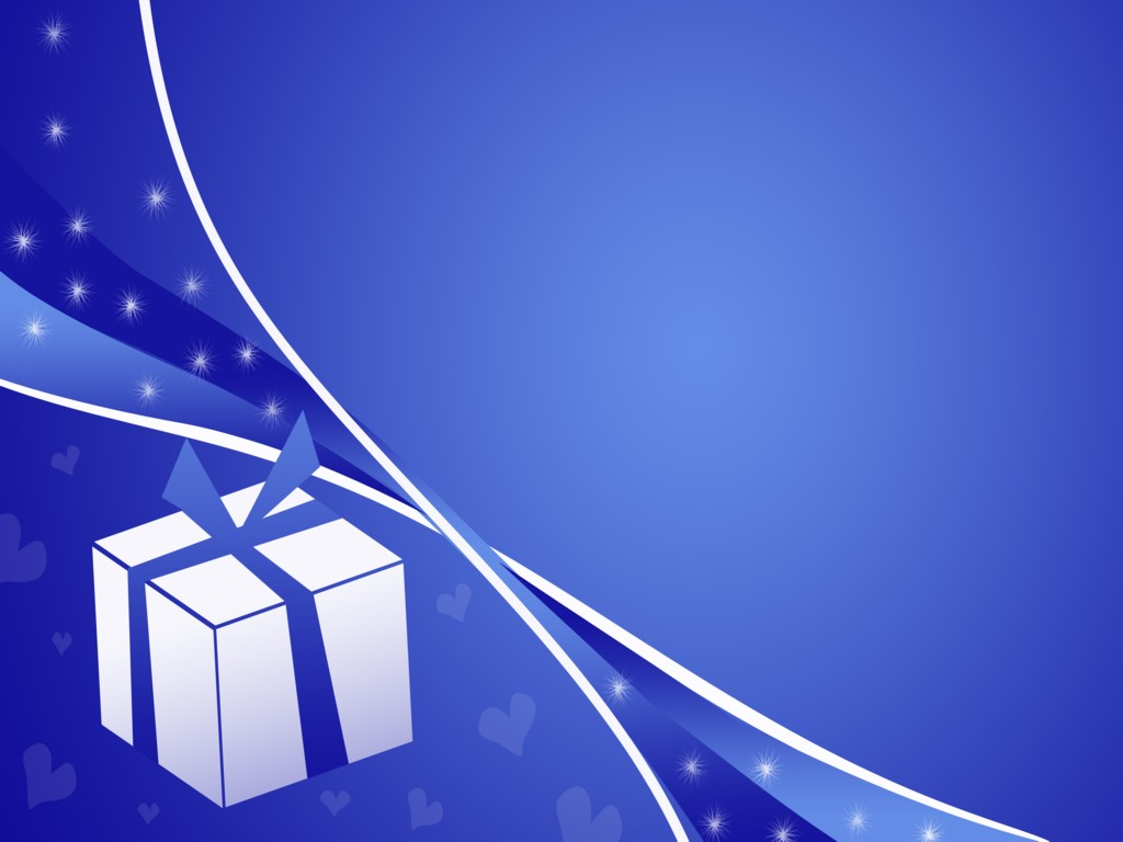 Happy New Year, Gift, Birthday, Celebration, Blue Background #741