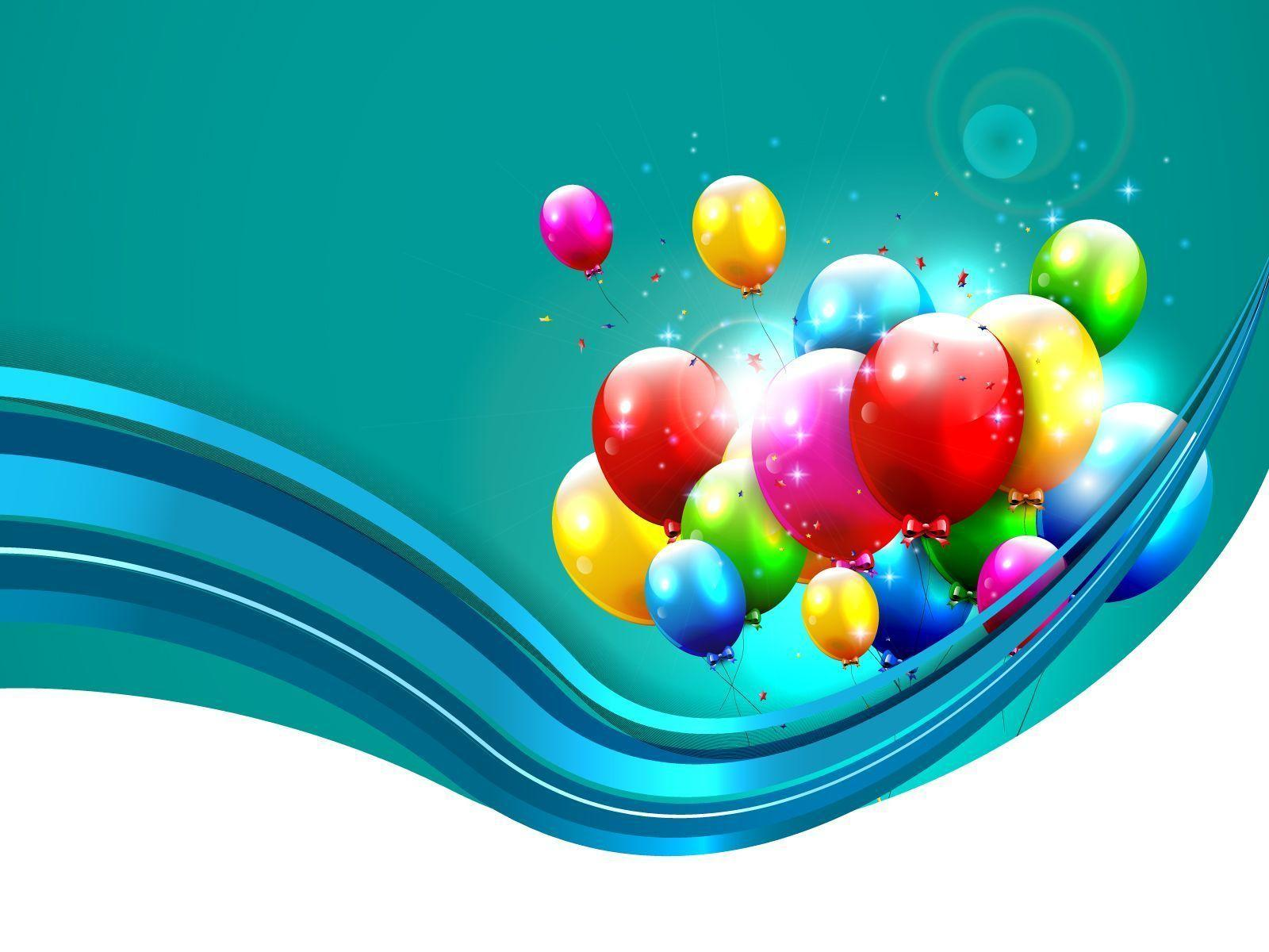 Wavy Line, Balloons, Celebration Background For PowerPoint, Birthday, New Year #729