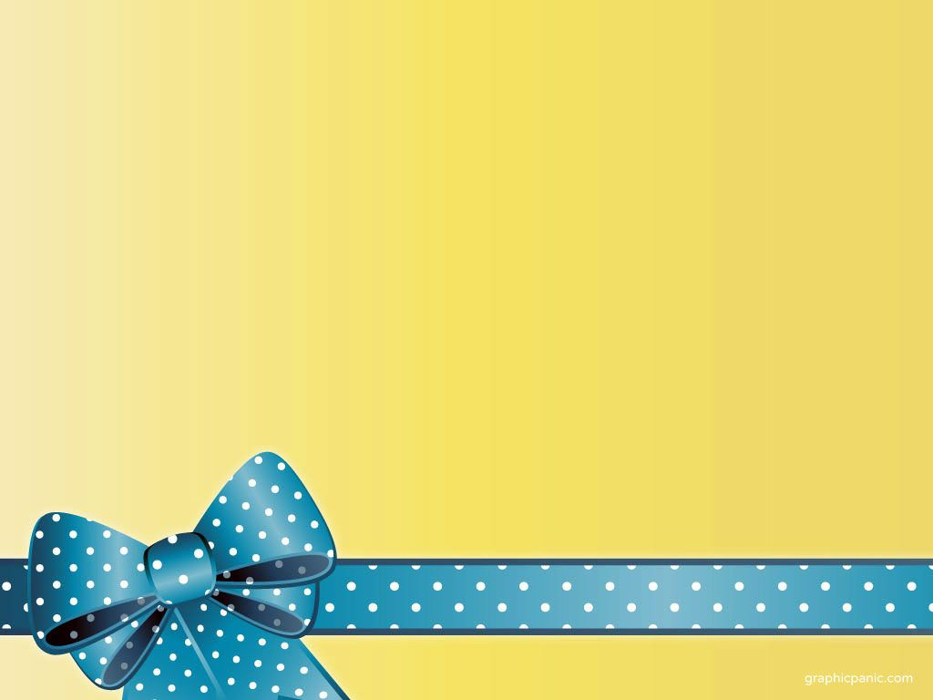 Yellow Background, Ribbon, Celebration, Anniversary #722