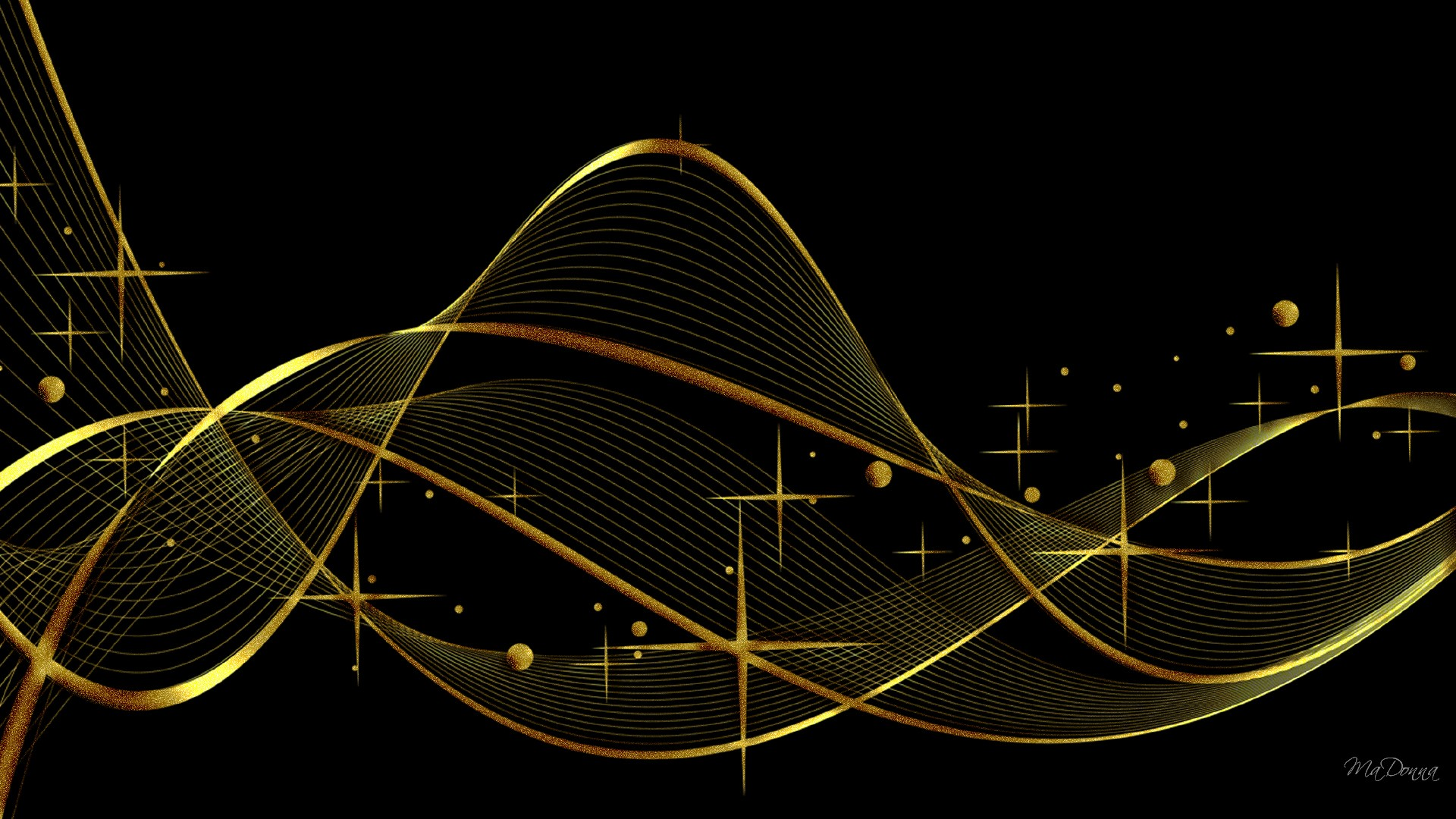 black and gold elegant wavy lines background #5116