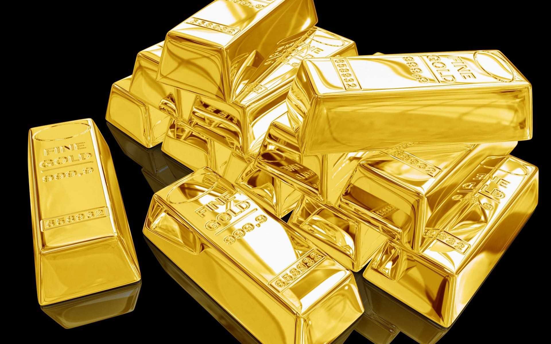 gold bloc, ingot of gold with black background download #5262