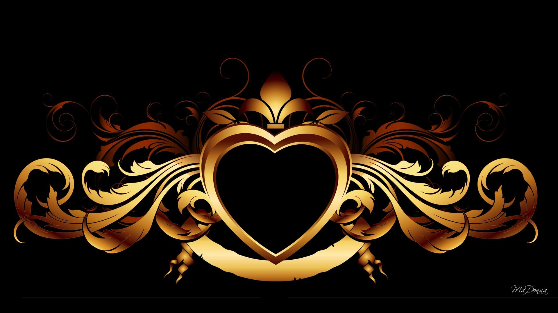 black and gold heart backgrounds #5128