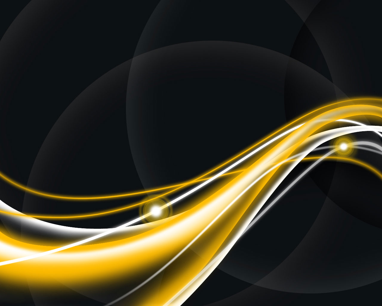 black and gold wavy abstract background powerpoint #5118