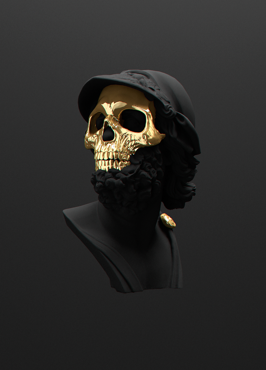 skull black and gold wallpaper #5129