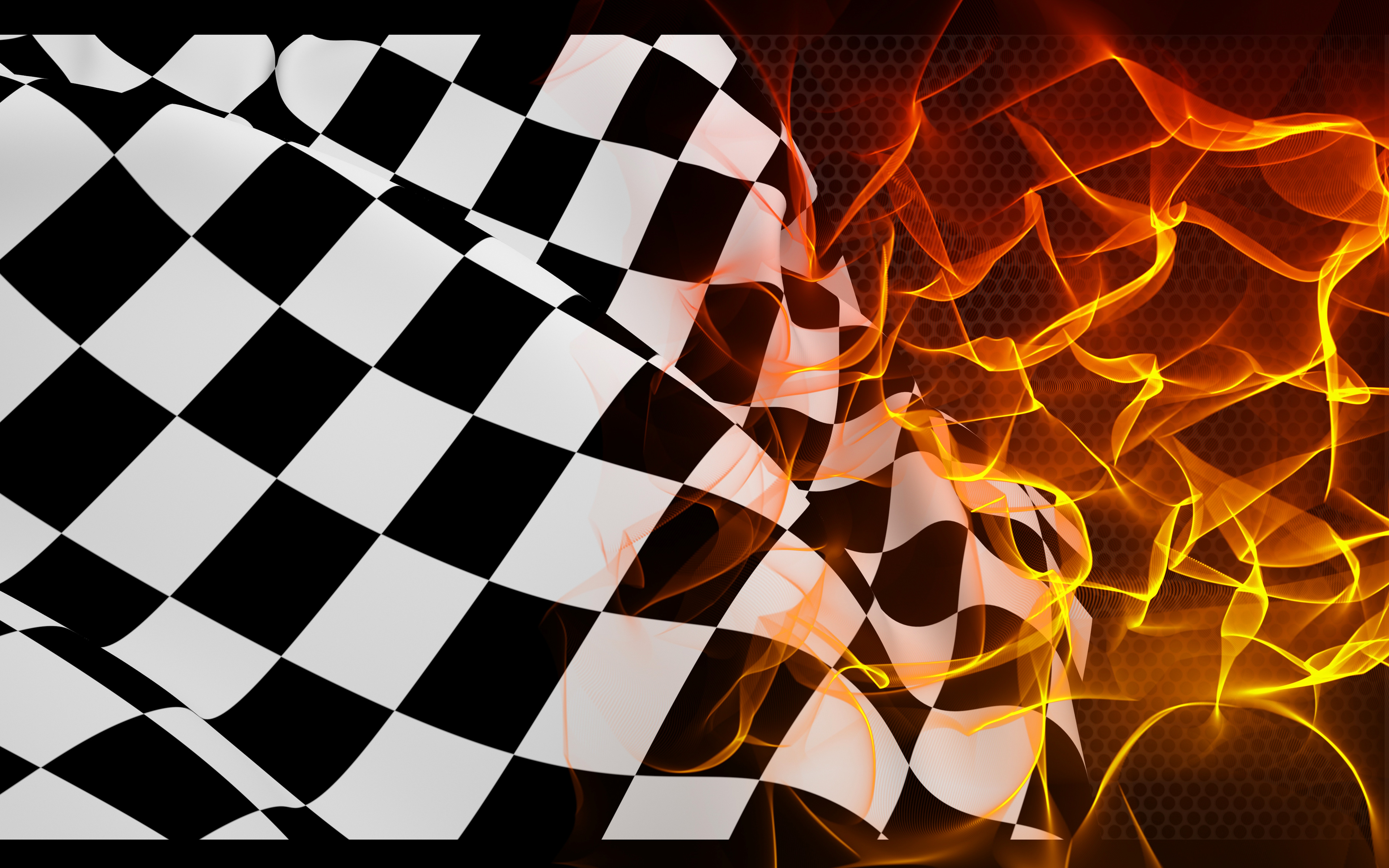 finish checkered flag fire flame powerpoint background #4861