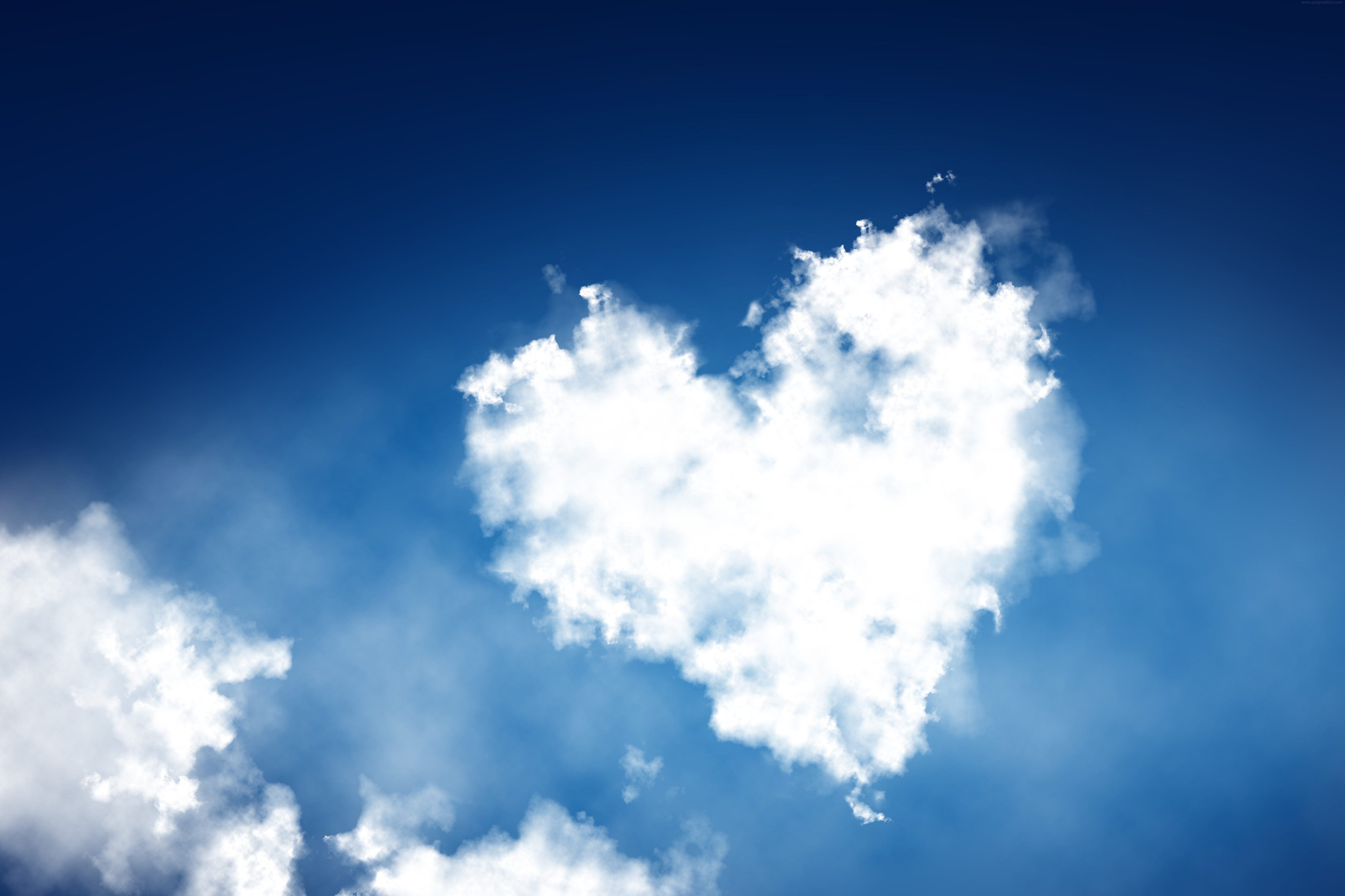 Heart shaped clouds background wallpaper #1984