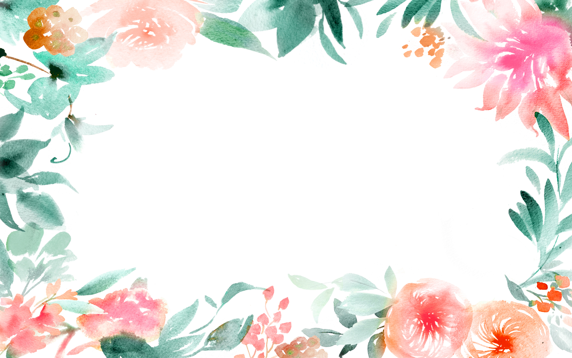 Great flower border ppt background #1164