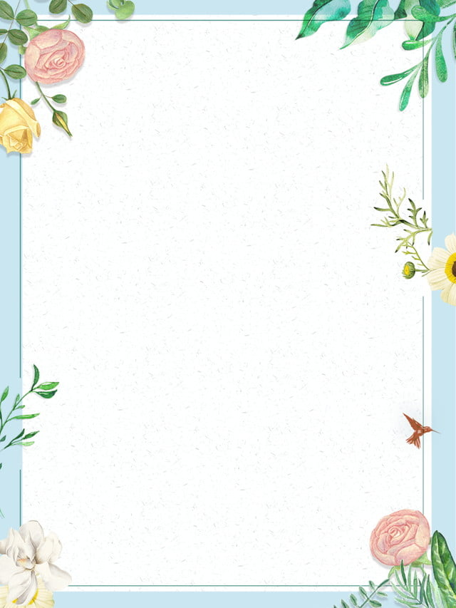 Pastel painted flower border background ppt, excited invitation background #1171