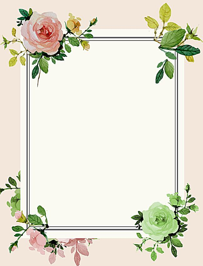 Pastel rose drawing flower border background photos hd #1166