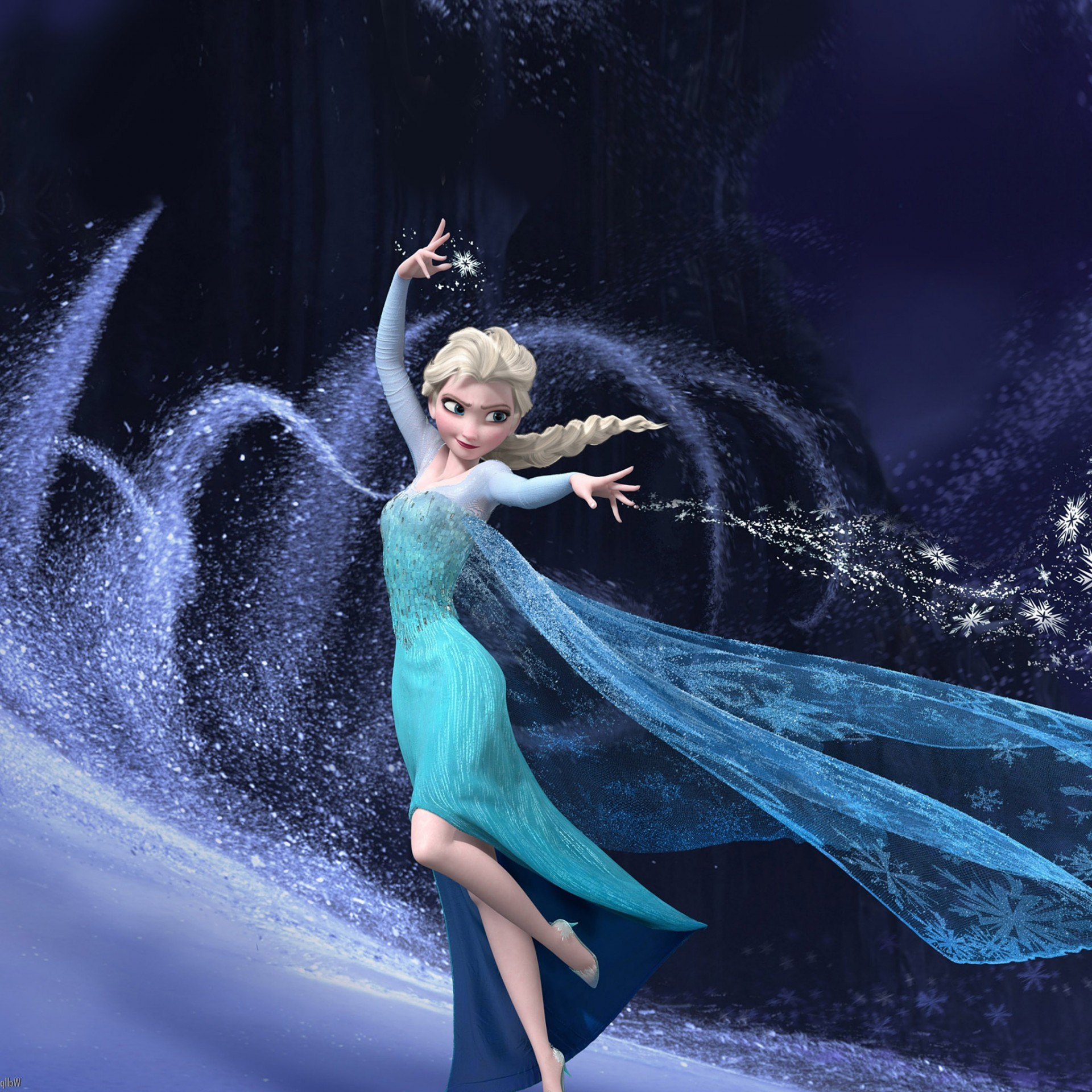 Elsa that freezes everything background #2744
