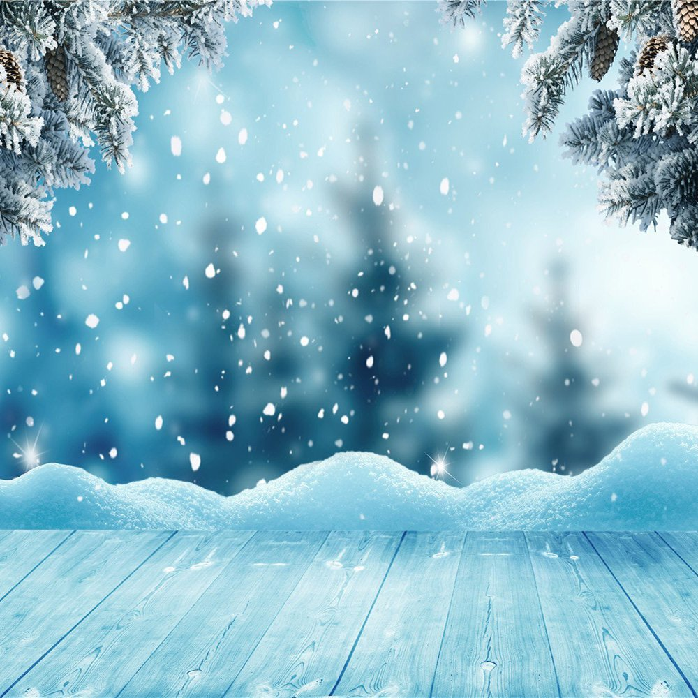 falling snow, frame, frozen wallpapers #2749