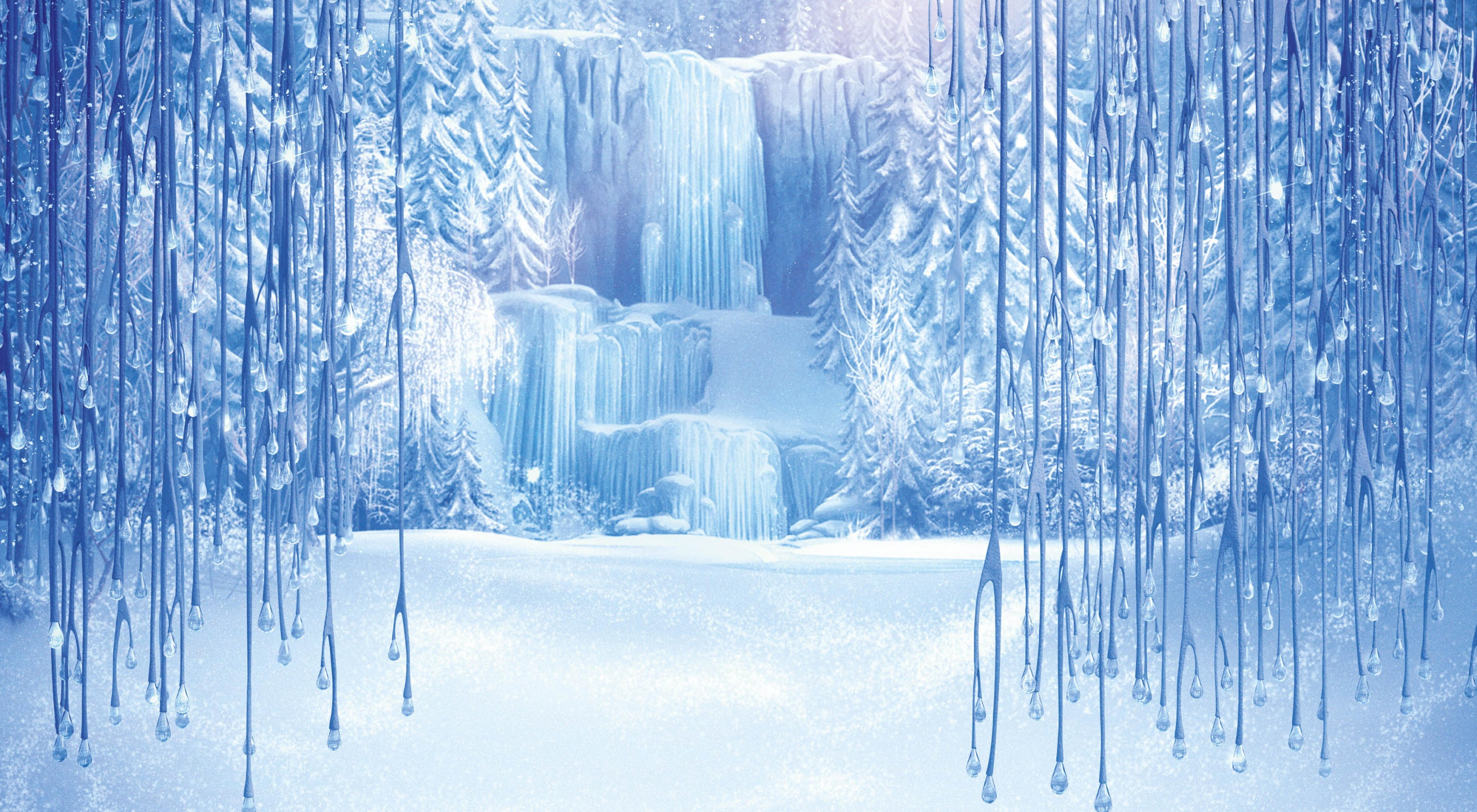 Icefall, frozen powerpoint background #2746