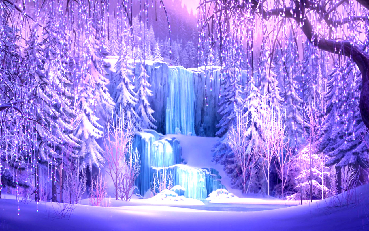 purple crystal frozen photo wallpaper #5350