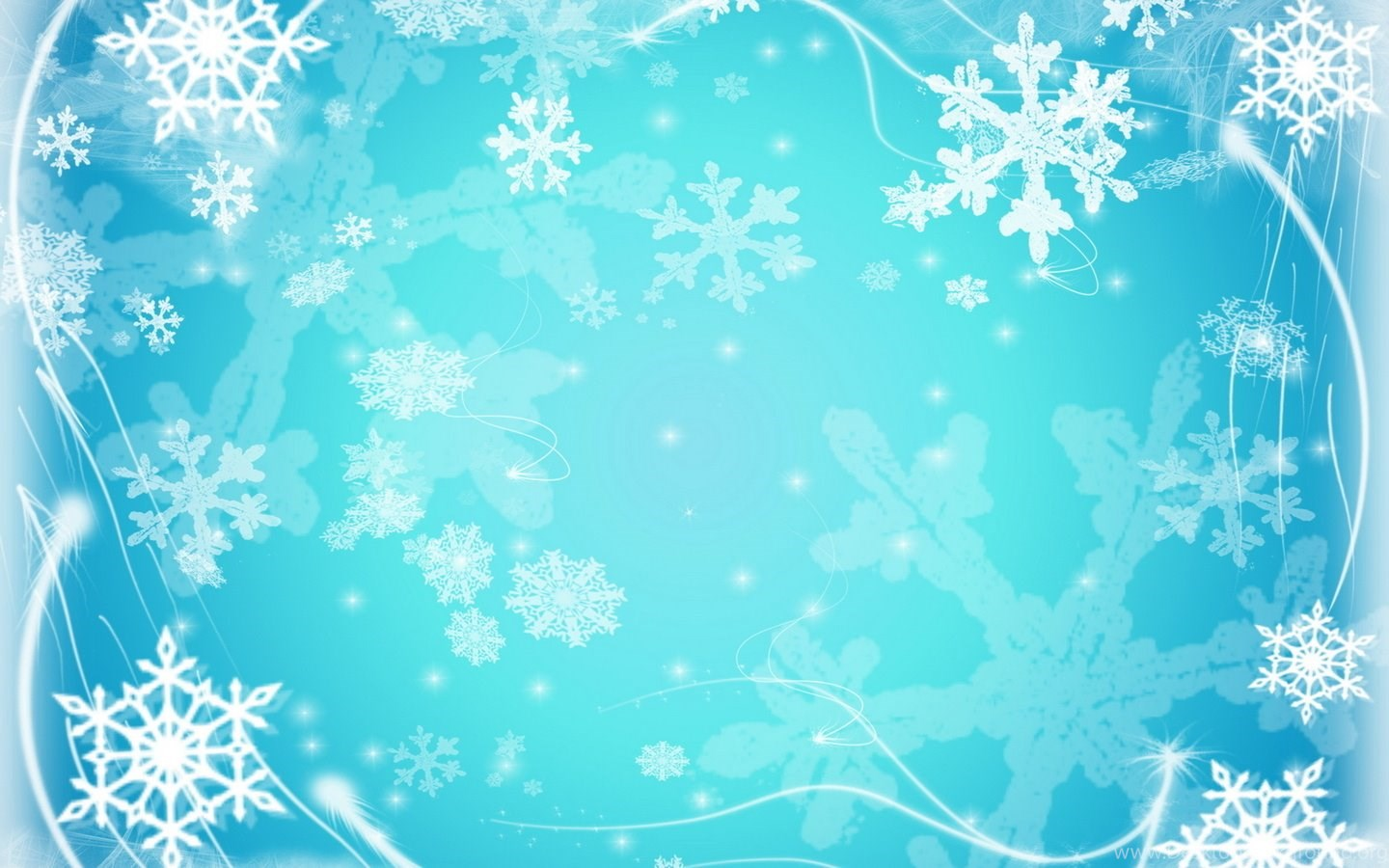 snowflakes, cold, freeze, Frozen ppt background #2748