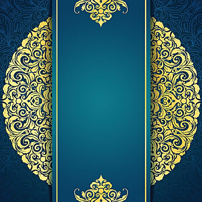 gold pattern blue blank wedding invitation background hd images #1400