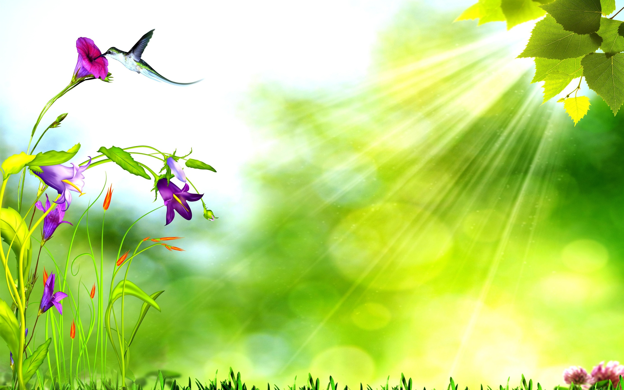 Natural Background HD PPT Free Nature PowerPoint Template SlideBackground