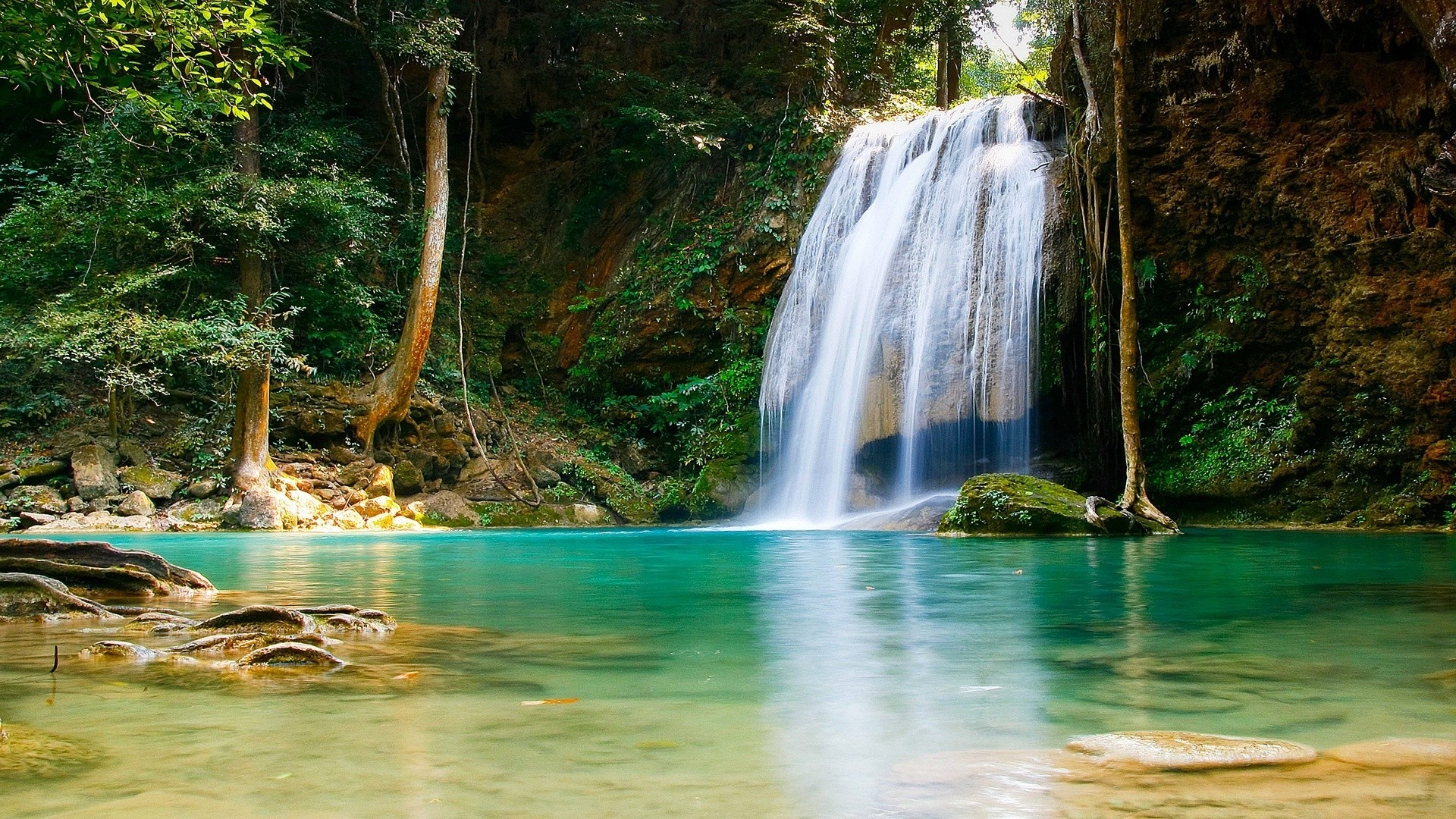 great waterfall nature desktop wallpaper free download #1571