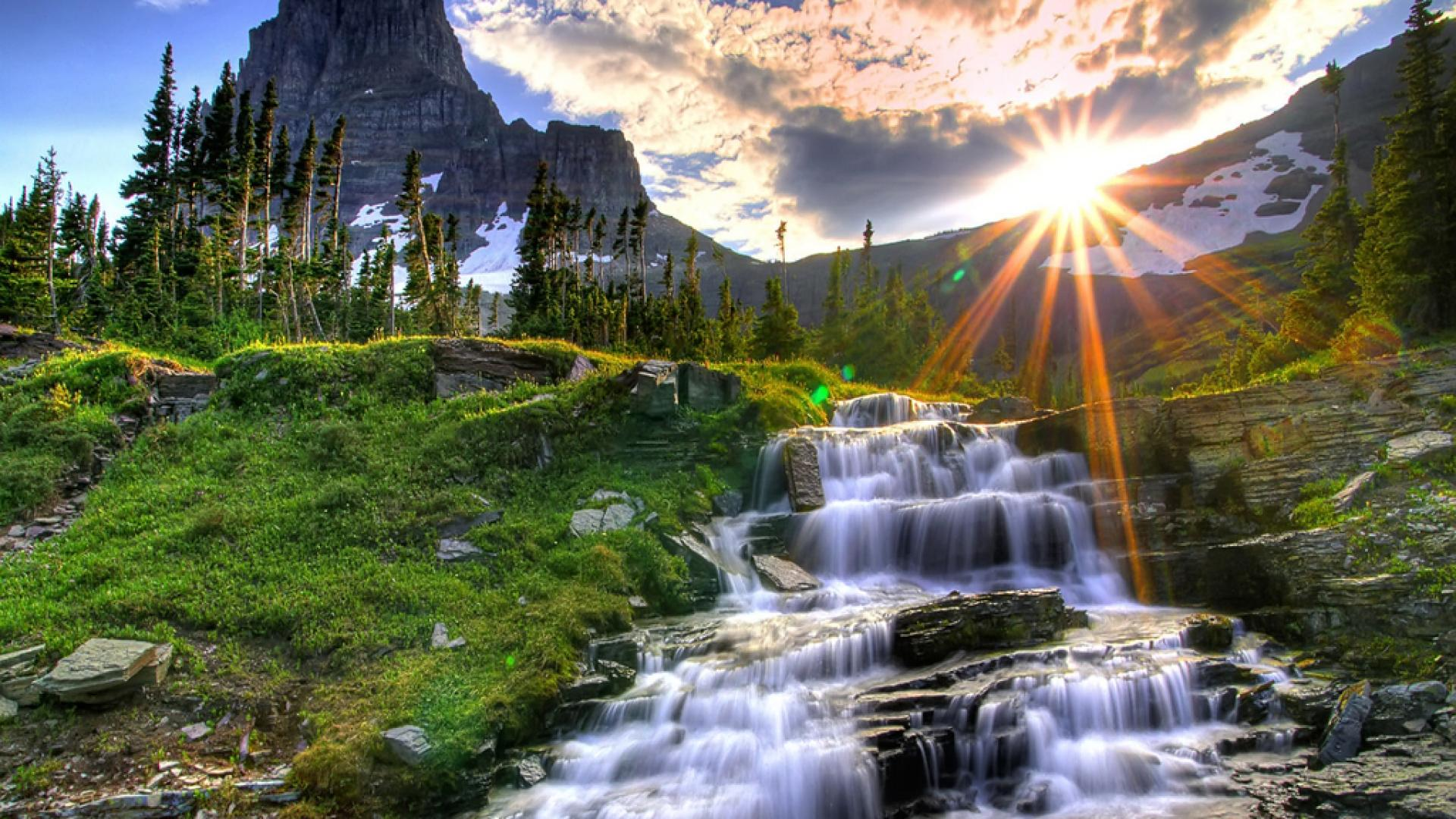 waterfall and nature background destop wallpapers #1591