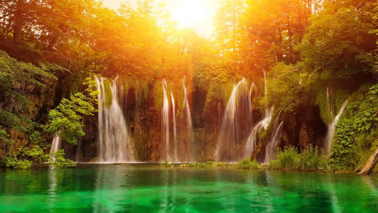 flowing waterfall nature desktop background wallpapers free #1576