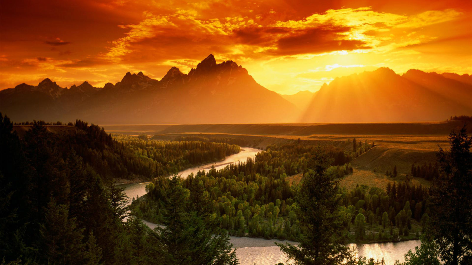 sun, mountain, nature desktop free background #1556