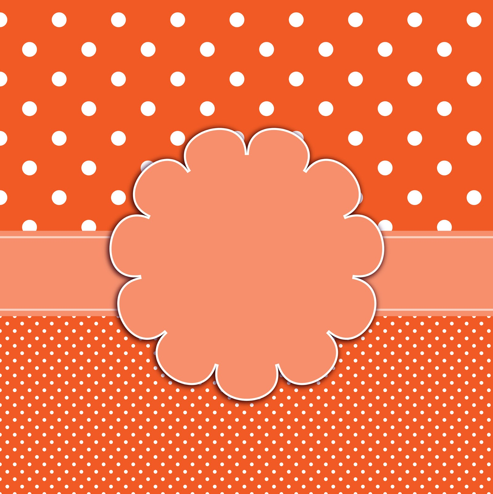 gift ornament, Orange polka dots background #3444