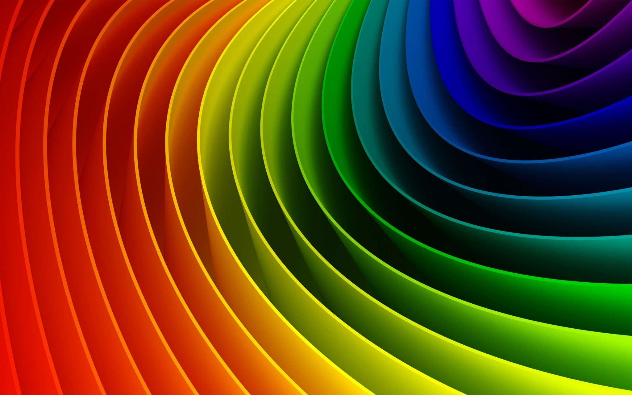 Rainbow color transition ppt background #3611