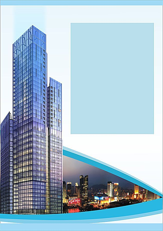 real estate powerpoint templates hd free, skyscraper house #1884