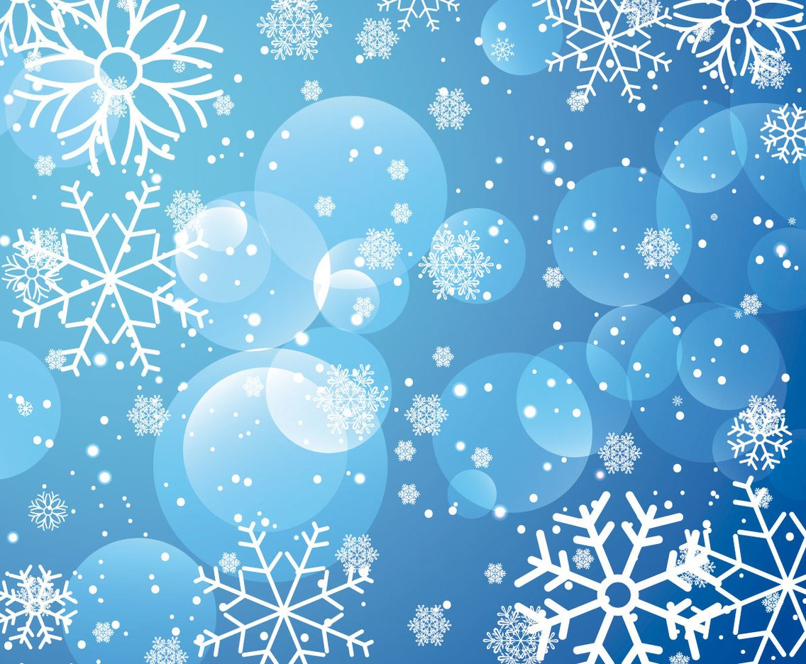 blue drawing snowflake background images #1636