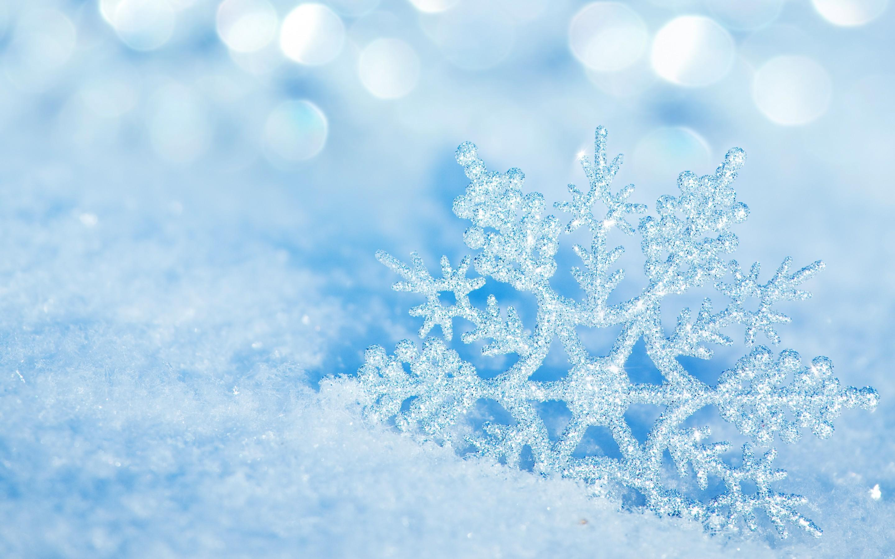 perfect crystal snowflake ppt slide, cold winter season #1654