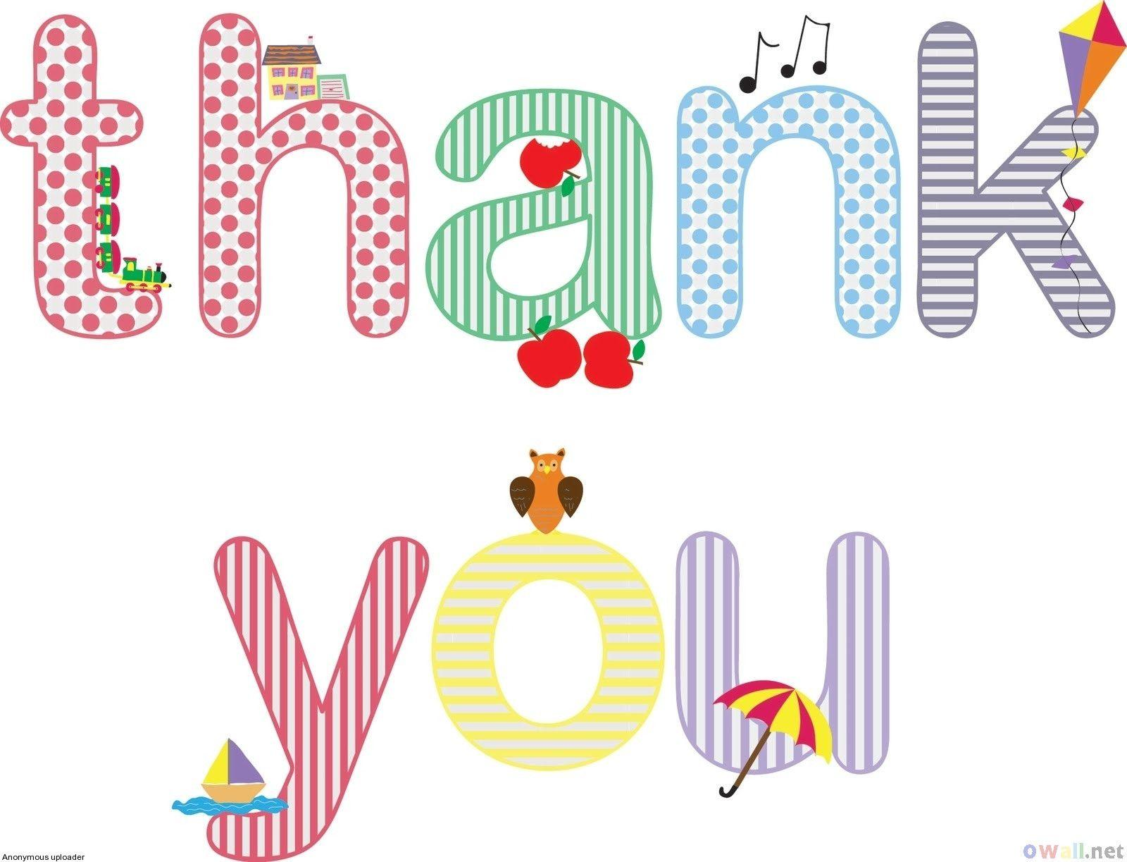 patterned written thank you message ppt background #3721