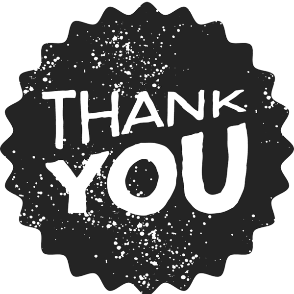 thank you on black circle background #6576