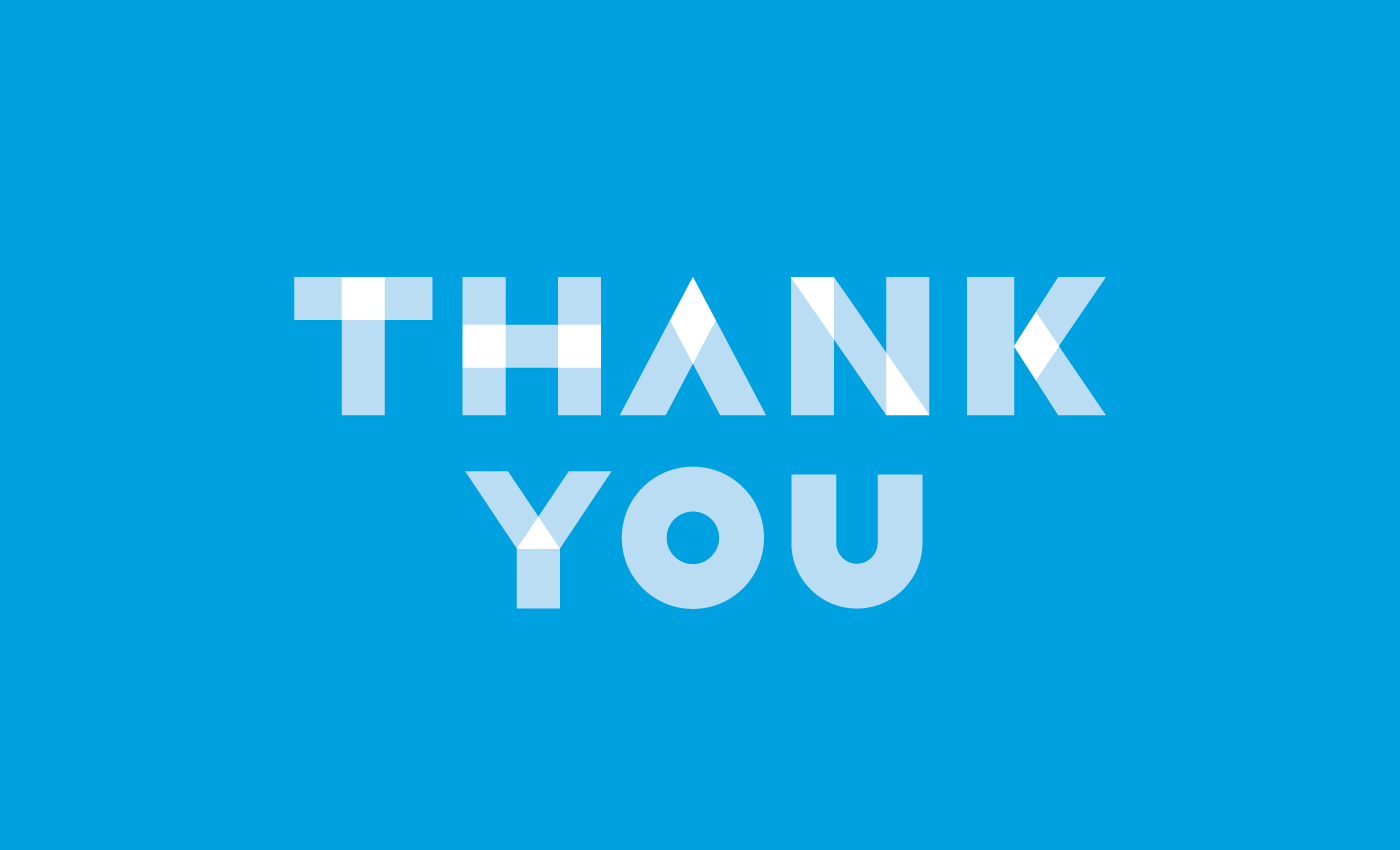 thank you with blue background #6587