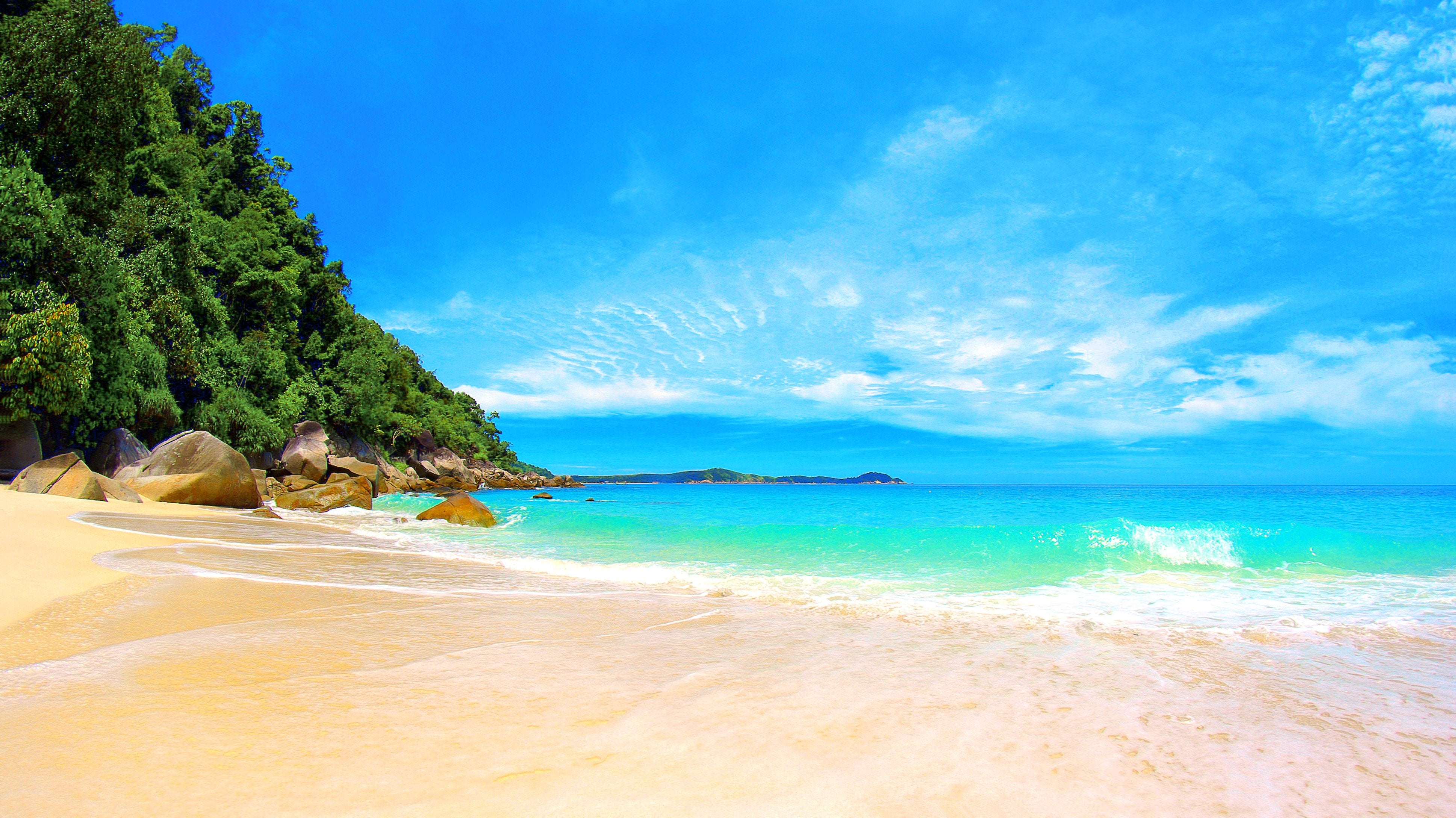 awesome tropical beach paradise wallpaper #128