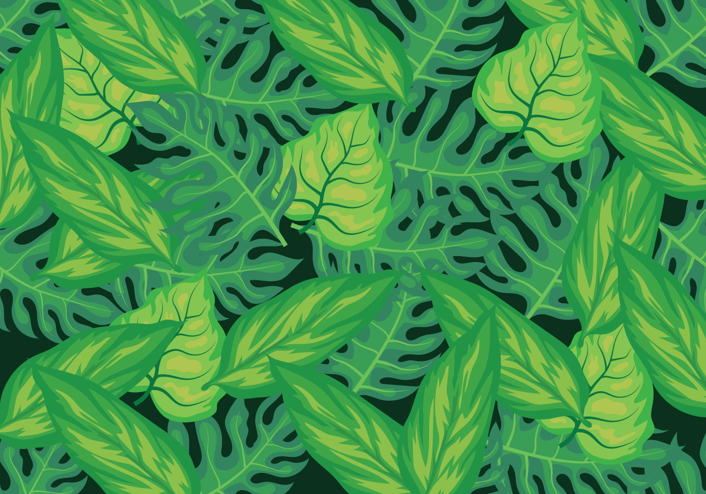 tropical leaves background download vectors #158