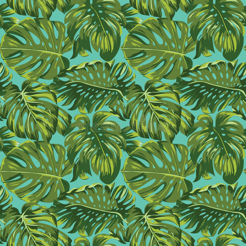 tropical leaves background vector illustration #165