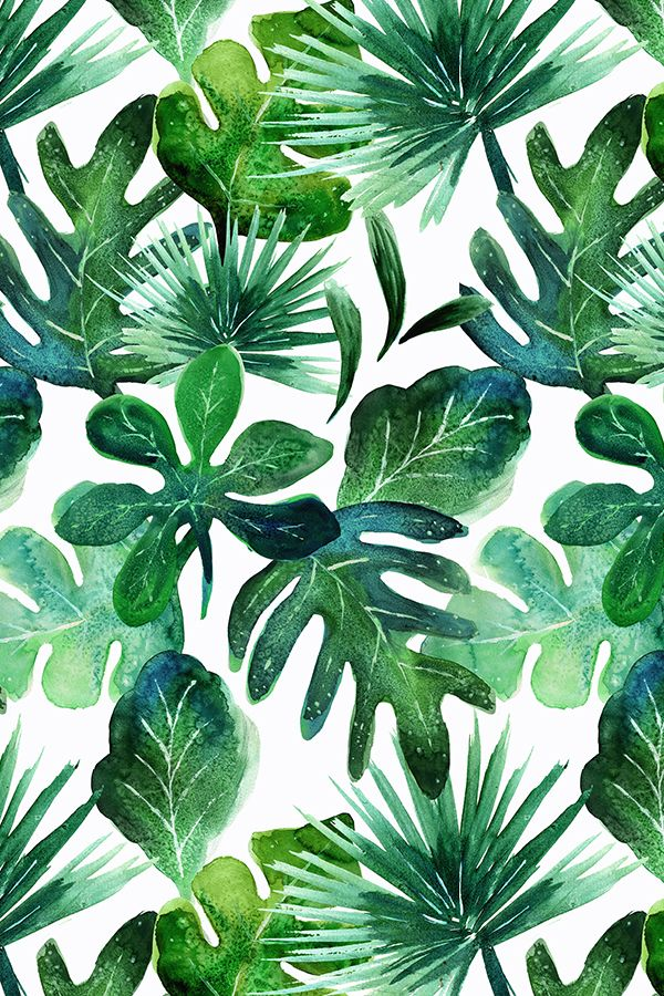 tropical leaves colorful fabrics digitally printed spoonflower #152