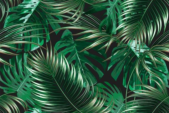 tropical leaves tropical palm leaves party photo background summer #150